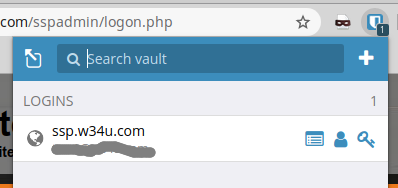 Bitwarden Selecting login auth credentials