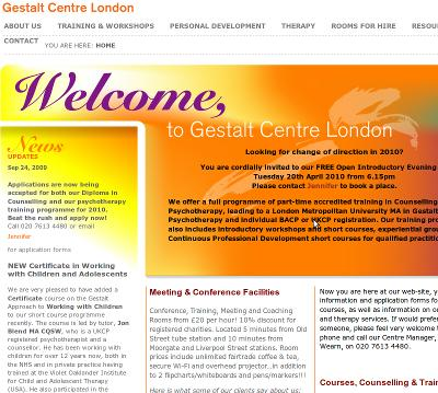 Gestalt Centre London - accredited training in Counselling and Psychotherapy